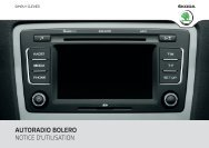 AUTORADIO BOLERO NOTICE D'UTILISATION - Media Portal - Skoda