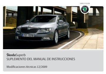 ŠkodaSuperb SUPLEMENTO DEL MANUAL DE ... - Media Portal