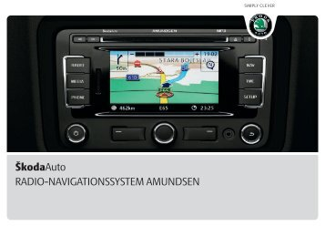 RADIO-NAVIGATIONSSYSTEM AMUNDSEN ŠkodaAuto
