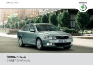 ŠKODA Octavia OWNER'S MANUAL - Media Portal - Škoda Auto