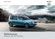 ŠKODA Roomster MANUAL DE INSTRUÇÕES - Media Portal