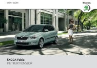 ŠKODA Fabia INSTRUKTIONSBOK - Media Portal - Škoda Auto