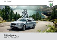 ŠKODA Superb INSTRUCTIEBOEKJE - Media Portal - Škoda Auto