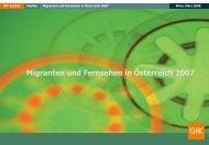 Migranten und Fernsehen in Österreich 2007