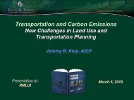 Transportation and Carbon Emissions New Challenges in Land Use ...
