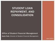 STUDENT LOAN REPAYMENT, AND CONSOLIDATION