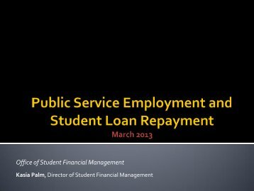 Public Service Employment and Student Loan Repayment