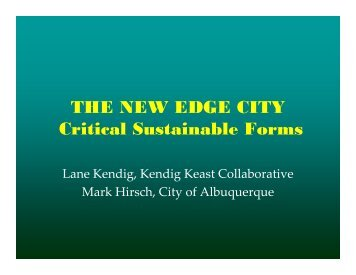 THE NEW EDGE CITY Critical Sustainable Forms - Sturm College of ...