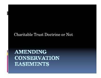 Charitable Trust Doctrine or Not