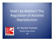 Shall I be Mother? The Regulation of Assisted Reproduction