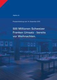 Header 500 Millionen Schweizer Franken Umsatz - bereits ... - Digitec