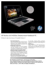 PSG Consumer 2C10 HP Notebook Datasheet - Digitec
