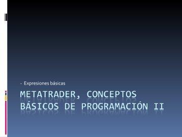 MetaTrader, Conceptos básicos de programación I - FXstreet.com