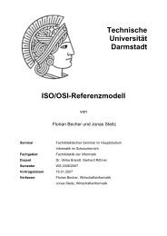 Technische Universität Darmstadt ISO/OSI-Referenzmodell