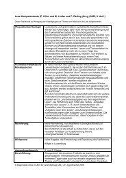 Lese-Kompetenztests (P. Kühn und M. Linder und P. Reding (Hrsg ...