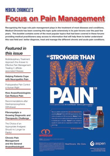Focus on Pain Management - Medical Chronicle
