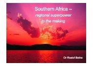 Presentation by Dr Roelof Botha - Medical Chronicle