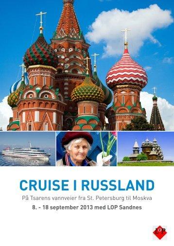 CRUISE I RUSSLAND - Lops