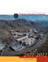 Pediatric Residency Training - University of Utah - School of Medicine