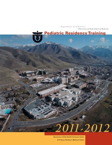 Pediatric Residency Training - University of Utah - School of Medicine