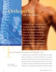 Read more about the Unviersity Orthopaedic Center - University of ...