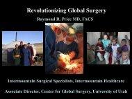 Presentation - University of Utah - School of Medicine
