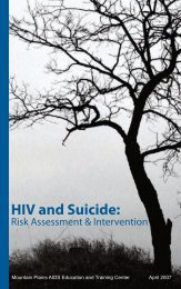 HIV and Suicide: Risk Assessment & Intervention - University of Utah ...