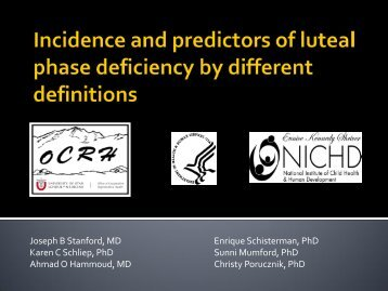 Incidence and predictors of luteal phase deficiency by different ...
