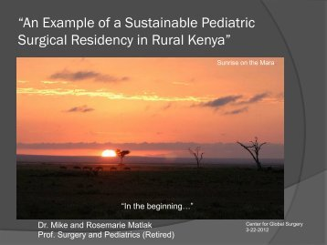 """An Example of a Sustainable Pediatric Surgical Residency in Rural ..."