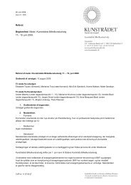 Referat nr. 10 KUB-møde 17. - 19. juni 2009 godkendt - Kunst.dk