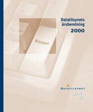 Datatilsynets årsberetning 2000 side 35-37