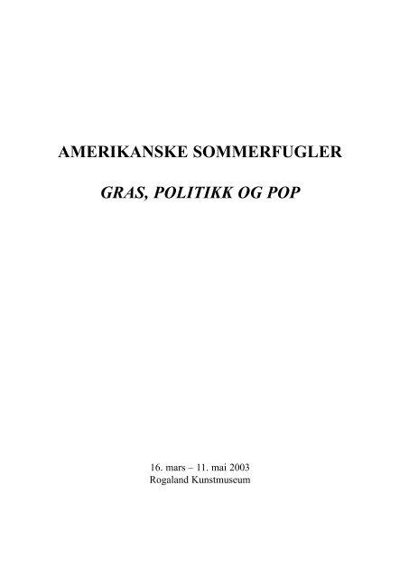 2003 Rogaland museum - Gras Katalog - Victor Lind