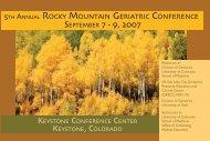 SEPTEMBER 7 - 9, 2007 - University of Utah - School of Medicine