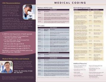 MEDICAL CODING - University of Utah - School of Medicine