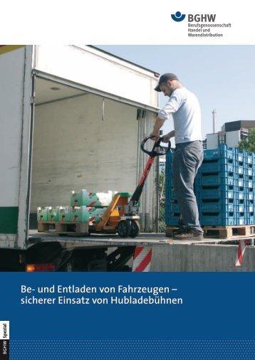 Spezial 14: Be- und Entladen von Fahrzeugen - sicherer Einsatz von ...