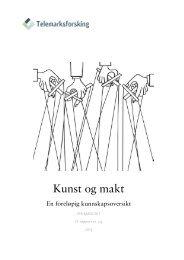 Kunst og makt - Telemarksforsking
