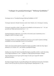 Vedtægter for Grundejerforeningen Mellerup Fjordbakker (10.12.2012)