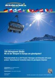 150-Skiregionen-Studie: - Presse.Unister.de - Unister