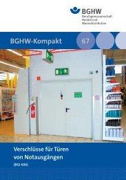 M 067 Verschlüsse für Türen von Notausgängen (BGI 606)
