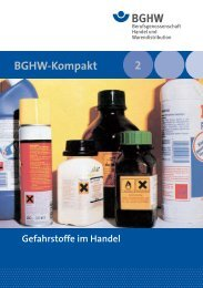 BGHW-Kompakt 2 - Medienangebot der Sparte Einzelhandel