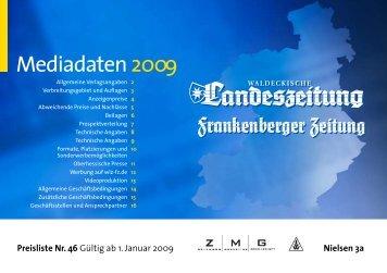 Preisliste 2009