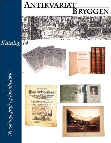 Katalog 14 – Topografi og lokalhistorie - Antikvariat Bryggen