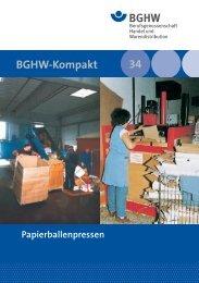 BGHW-Kompakt 34 - Medienangebot der Sparte Einzelhandel