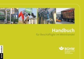 Handbuch für Beschäftigte im Weinhandel - Berufsgenossenschaft ...