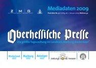 Print-Anzeigenpreise 2009