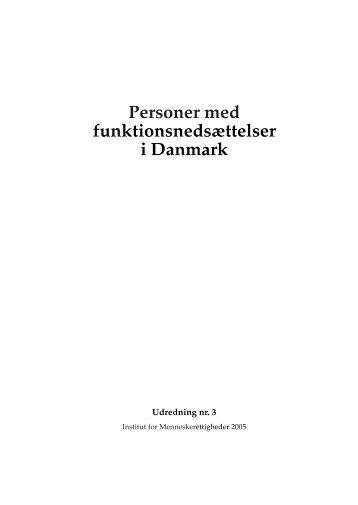 Personer med funktionsnedsættelser i Danmark - Danish Institute for ...