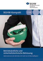 114 116 BGHW-Kompakt Betriebsärztliche und ...