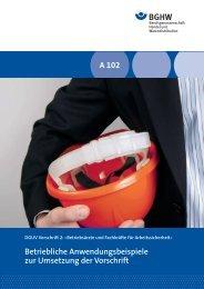 Betriebliche Anwendungsbeispiele zur Umsetzung der Vorschrift A ...
