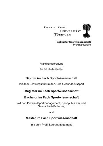 Praktikums - Universität Tübingen