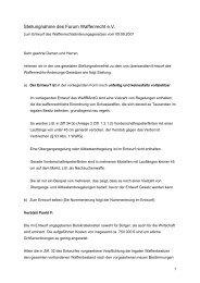 Stellungnahme des Forum Waffenrecht e.V. - Newsroom.de